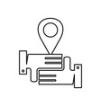 pin location commitment teamwork together outline vector image vector image