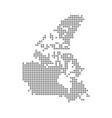 pixel map of canada dotted map of canada isolated vector image