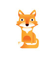 red fox stylized geometric animal low poly design vector image