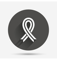 Ribbon sign icon Breast cancer awareness symbol vector image vector image