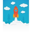 rocket startup concept in flat style vector image