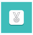 round button for award honor medal rank vector image