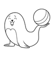 seal cartoon vector image vector image