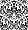 Seamless floral Polish folk pattern - Wycinanki vector image vector image