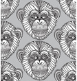 seamless pattern with hand drawn ornate entangle vector image vector image