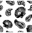 seamless pattern with marine inhabitants marine vector image vector image