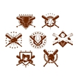 Set of baseball emblems vector image vector image