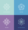 set of logo design templates and symbols in trendy vector image vector image