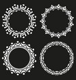 set of round frames on a black background vector image vector image