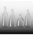 set of transparent empty bottles vector image vector image