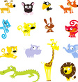 simple cute animal symbol - icon vector image
