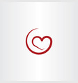 simple red heart symbol vector image