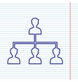 social media marketing sign navy line vector image vector image