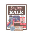 spring sale special offer different gift boxes vector image vector image