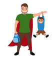 superdad cartoon character vector image