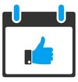 Thumb Up Hand Calendar Day Toolbar Icon vector image vector image
