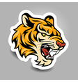 tigerhead sticker vector image vector image
