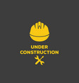 under construction logo vector image
