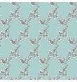 Vintage Drawing Kimono Branches Seamless vector image vector image