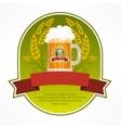 Glass mug of beer label vector image