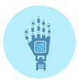 robotic arm icon modern robot technology concept vector image