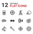 12 goal icons vector image vector image