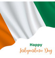 7 august cote divoire independence day vector image vector image