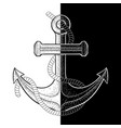 anchor black and white on vector image vector image