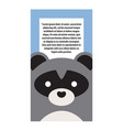 animal cover raccoon and text vector image vector image