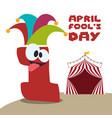 april fools day festive celebration vector image vector image