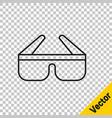 Black line 3d cinema glasses icon isolated on