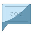 blue shading silhouette of square dialogue in vector image vector image