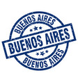 buenos aires blue round grunge stamp vector image vector image