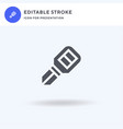 car key icon filled flat sign solid vector image vector image