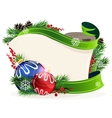 Christmas wreath with bright baubles vector image vector image