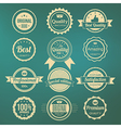 collection retro premium quality labels vector image
