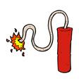 comic cartoon dynamite burning vector image vector image