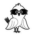 cute owl bird cartoon vector image