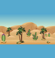desert landscape background for cartoon or vector image vector image