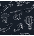 Doodle aviation seamless pattern Vintage vector image