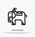 elephant animal line icon vector image vector image