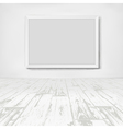 Empty white room with frame picture vector image