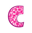 english pink letter c on a white background vector image vector image