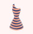 flat shading style icon summer dress vector image