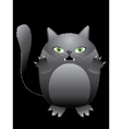 Funny black cat vector image vector image