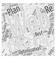 Get The Best Web Hosting Plan Word Cloud Concept vector image vector image