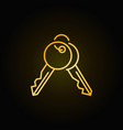 golden keys icon vector image