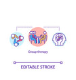 group therapy concept icon vector image