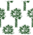 hand drawn palm tree seamless vector image vector image