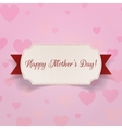 Happy Mothers Day realistic Banner with Ribbon vector image vector image